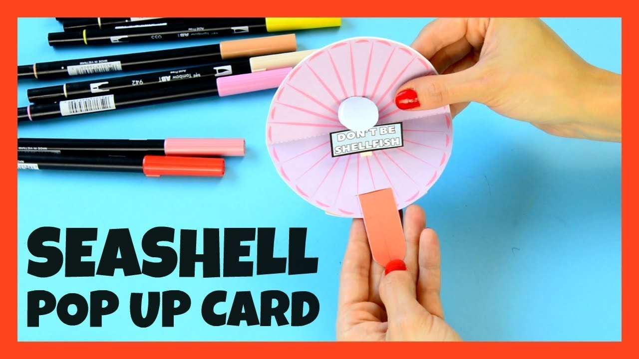 Seashell Pop Up Paper Craft for Kids With Template