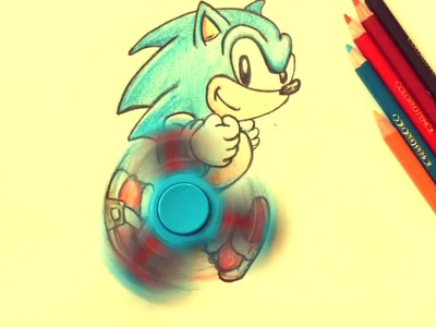 SONIC MANIA the HEDGEHOG Fidget Spinner how to draw DIY