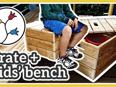 STORAGE CRATE + KIDS' BENCH –Easy DIY storage bench, upcycling