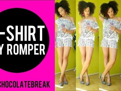 T SHIRT TO DIY ROMPER IN 20MIN + DIY AFRICAN PRINT   T SHIRT TRANSFORMATION EP 8   DIY CLOTHES