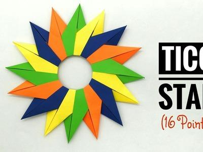 Tico Star - 16 Pointed (Design by Maria Sinayskaya) - DIY   Modular Origami   Tutorial - 776