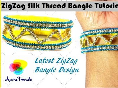 Turn old Bangle into designer Zig Zag Bangle Tutorial DIY Upcycle zigzag
