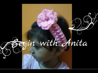 Tutorial 8-  how to crochet hairbands for girls.hindi.beginners.DIY
