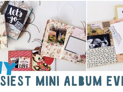 Tutorial | How To Make An Easy Mini Album For Beginners | DIY Travel Diary, Valentines Day Gift