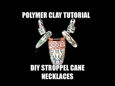099-Polymer clay tutorial - DIY Stroppel cane necklaces