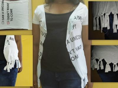 2-min | No Sew Shrug from old T-Shirt  | DIY Shrug | How to make shurg