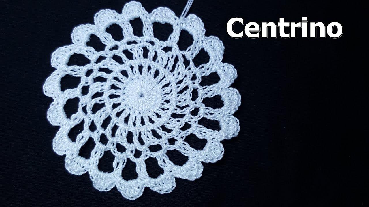 Centrino facilissimo all'uncinetto - crochet tutorial very easy - tutorial per principianti