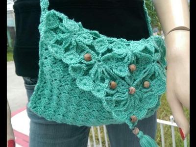 Como Tejer Bolso o Cartera en Crochet con Motivo Multiuso