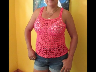 Crochet cami or summer blouse with fantasy stitch #4