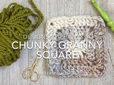 Crochet Chunky Granny Square Tutorial