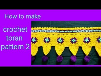 Crochet door hanging. Toran pattern 2