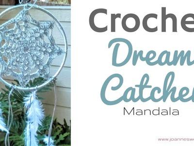 Crochet Dream Catcher Mandala - Dorm Room Decor - DIY Home Decor