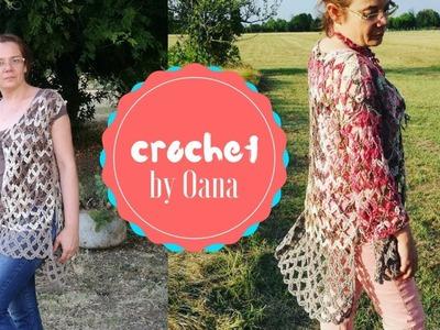 Crochet fast&easy cardigan by Oana