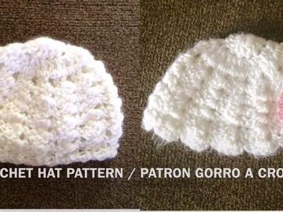Gorro, Tutorial Gorro Vintage Bebé Crochet o Ganchillo, Tutorial ...