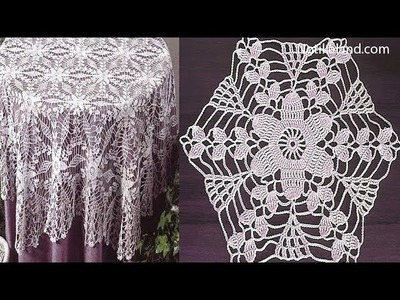 Crochet motif patterns for tablecloth Part 3 How to crochet tablecloth Diy crochet tablecloth