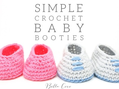 CROCHET: Simple Baby Booties | Bella Coco