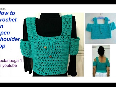 CROCHET TANK TOP OR OPEN SHOULDER TOP, any size, child, adult, plus size, free crochet pattern
