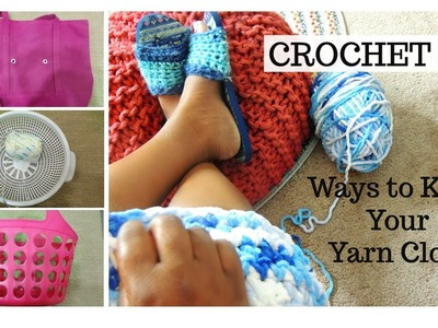 Crochet Tip for Beginners -How to Store Yarn