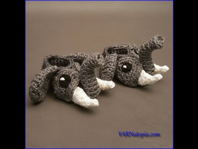 Crochet Tutorial: Easy Elephant Booties