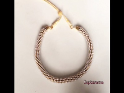 Designer pearl necklace DIY with pearl chain