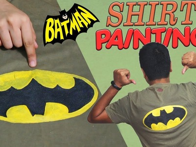 DIY Batman T-Shirt Painting at Home | how to paint batman logo on t shirt