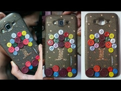 Diy Button design Phone Case 2017 | How to make phone case at home|| By Beautiful You