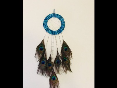 DIY Dream catcher || Peacock Feather Dream Catcher|| how to make dream catchers