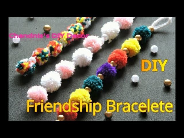 DIY Friendship Braceletes | 3 Easy Pom Pom DIY Bracelets | How to make Friendship Bracelete