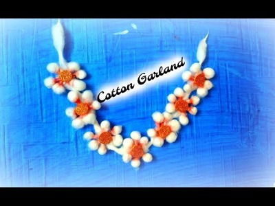 DIY: How to make Cotton flowers Garland. ||Art n you-32||