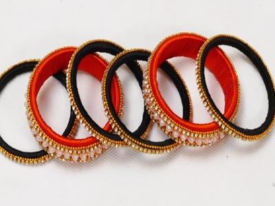 DIY || how to make designer bridal silk thread bangles at home || designer bridal bangles