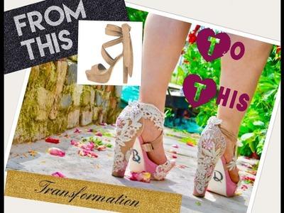 DIY!!! How To Make Lace.Appliqué Shoes
