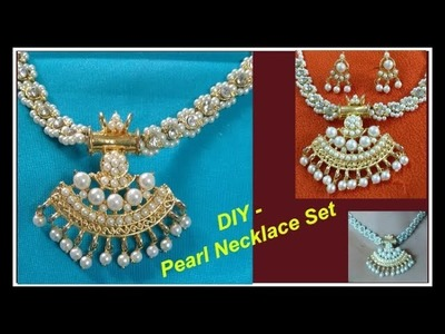 DIY | Necklace Beads with Loreals | Designer Necklace set | Pearl set |How to make necklace at home.