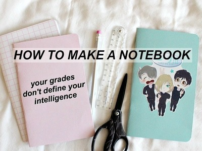DIY Notebooks.Yuri on Ice.Aesthetic.How to Make a Notebook.Travelers Notebook Insert