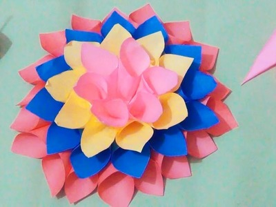 DIY Room Decor with Amazing Dahlia Flower | DIY Crafts | Home Decor Project | Great Paper Art