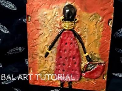 DIY- Tribal art with air dry clay