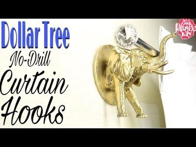 Dollar Tree DIY Curtain Hook | No Drill Renter friendly Hack | Dorm Room DIY