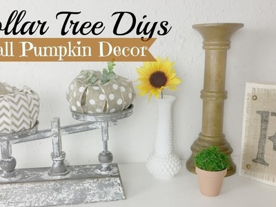 Dollar Tree Fall Pumpkin DIY   Fall Farmhouse Decor Ideas