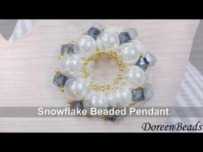 DoreenBeads Jewelry Making Tutorial - How to Make Fabulous Snowflake Beaded Earrings Rapidly.