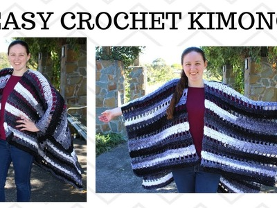 Easy Crochet Kimono - Crochet Cardigan