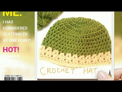 Easy new born crochet  hat(0 to 3 months)-A