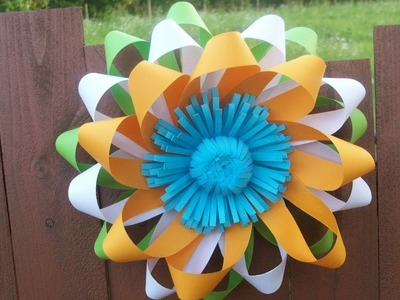 Easy Paper Flower Wall Decorations for Wedding, Republic Day Party|DIY Home Class Decor Craft Ideas