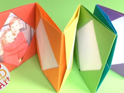 Easy RAINBOW Origami Photo Album DIY - Mini Photo Album DIY