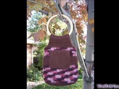 Free Felted Crochet Bag Pattern | Crochet Bag Patterns and Tutorials