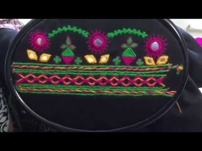 Hand Embroidery easy stitch how to make Balochi designs part .1