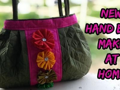 Handbag new stylish make at home.cutting and sewing.how to make hand bag at home.
