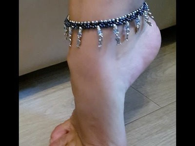 How to bead an anklet. necklace DIY hal hal. Fusskette