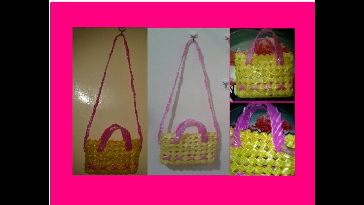 HOW TO CREATE HANDY CUTE BAG made by recyclable softdrinks plastic straw PART 2