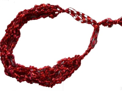 How To Crochet A Ladder Yarn Necklace w Creativefiberarts com