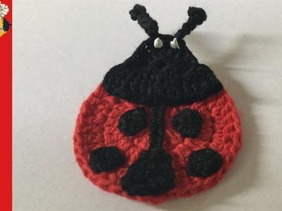 How to crochet a ladybug applique