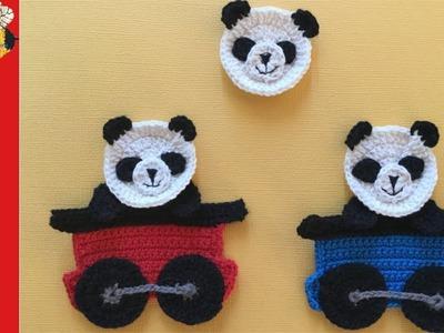 How to crochet a Panda Face (Train series part 6)